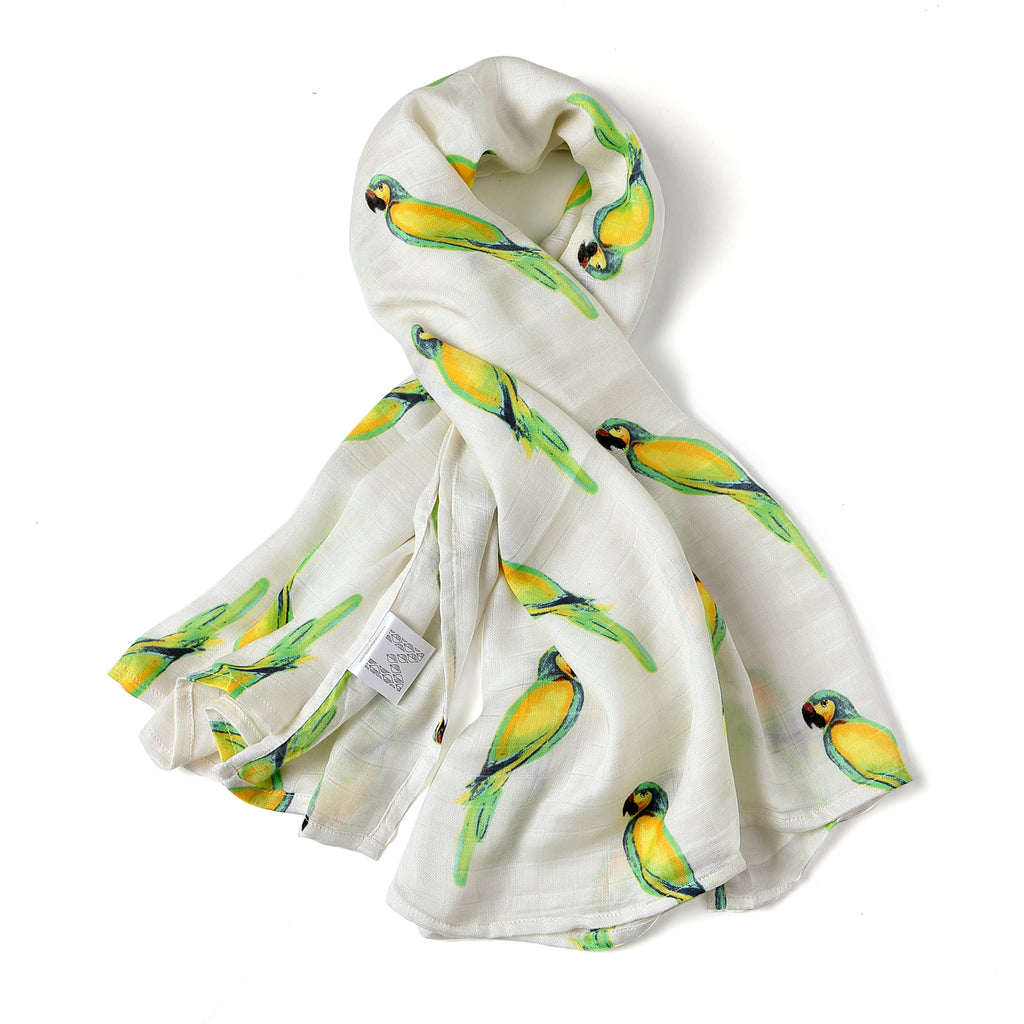SILKY BAMBOO SWADDLE - PARROT (Limited Edition)