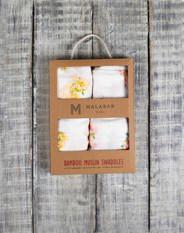 BAMBOO SWADDLE SET - ENCHANTED GARDEN