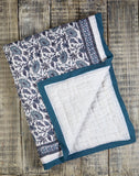 PROVENCE BLUE COTTON QUILT
