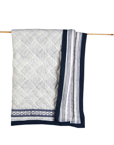 CAIRO BLUE COTTON QUILT