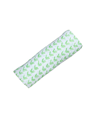 Malabar baby's 100% GOTS certified organic cotton super soft baby swaddle. Swaddle gets softer after every wash. The perfect newborn and baby shower gift. This swaddle has a beautiful white and green grass design. It's stunning and gender neutral. The perfect baby shower gift.