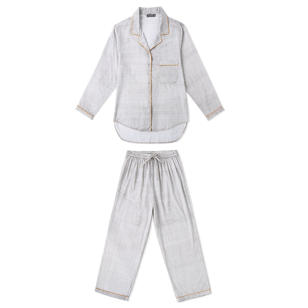 Children's Loungewear PJ Set - Brushstroke - Erawan (Grey)