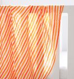 ORGANIC SWADDLE - ORANGE STRIPE