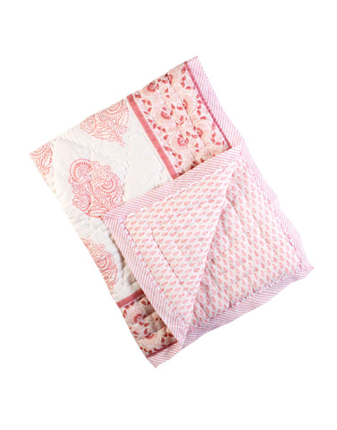 XL PINK CITY COTTON QUILT