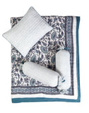 Malabar Baby | Crib Bedding Set (4-Piece) | Cairo Blue