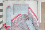 SEMINYAK PINK CRIB BEDDING SET (4-Piece)