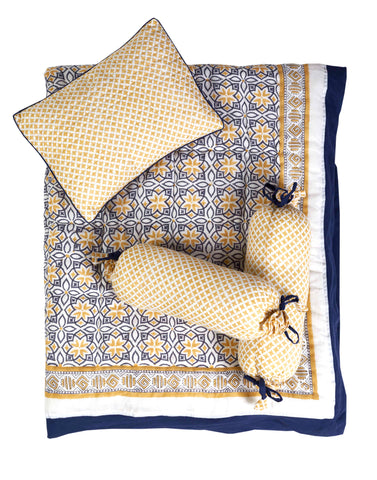 Malabar Baby | Crib Bedding Set (4-Piece) | Seminyak Blue