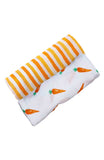 ORGANIC SWADDLE SET - CARROT + ORANGE STRIPES