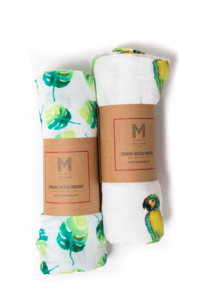ORGANIC SWADDLE SET - TROPICAL PARADISE