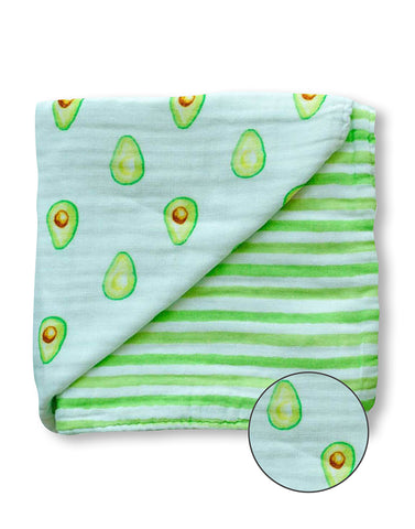 ORGANIC SNUG BLANKET - AVOCADO