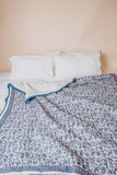 PROVENCE BLUE KING SIZE QUILT + PILLOW CASES - WEB EXCLUSIVE