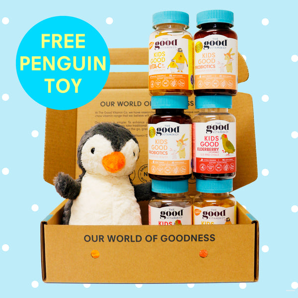 FREE Penguin Soft Toy with Kids Immunity Bundle