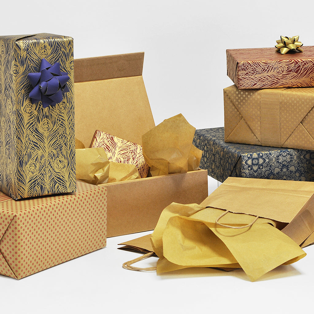 Recycled gift wrapping materials