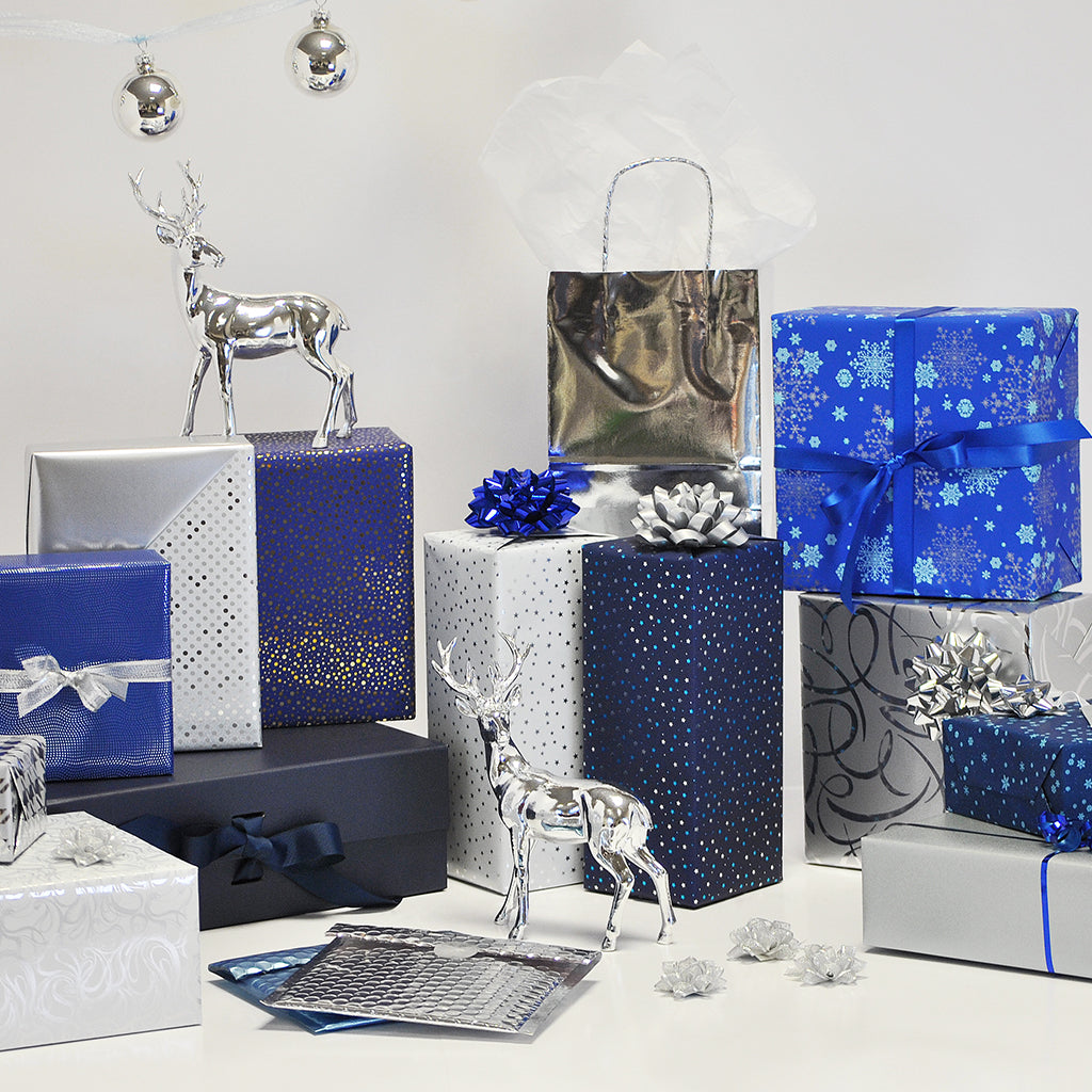 Opulent Silver Blue Collection