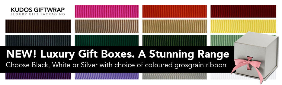 Luxury Gift Boxes. A stunning range. Choose box, then add ribbon in your brand colour.