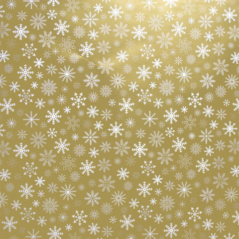 Gold Snowflakes Christmas Counter Roll