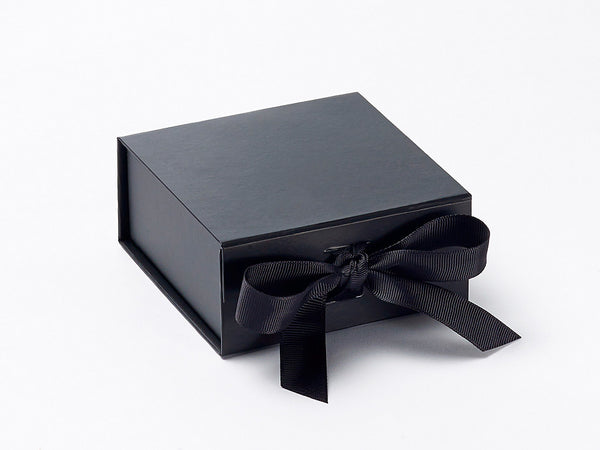 Small Black Luxury Gift box with magnetic closure, and ribbon (Pack of 12)