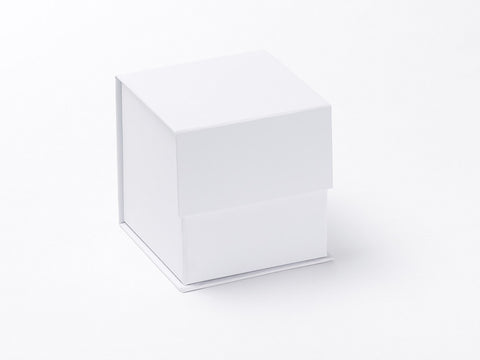 Small White cube Luxury Gift box with magnetic closure (Pack of 12)