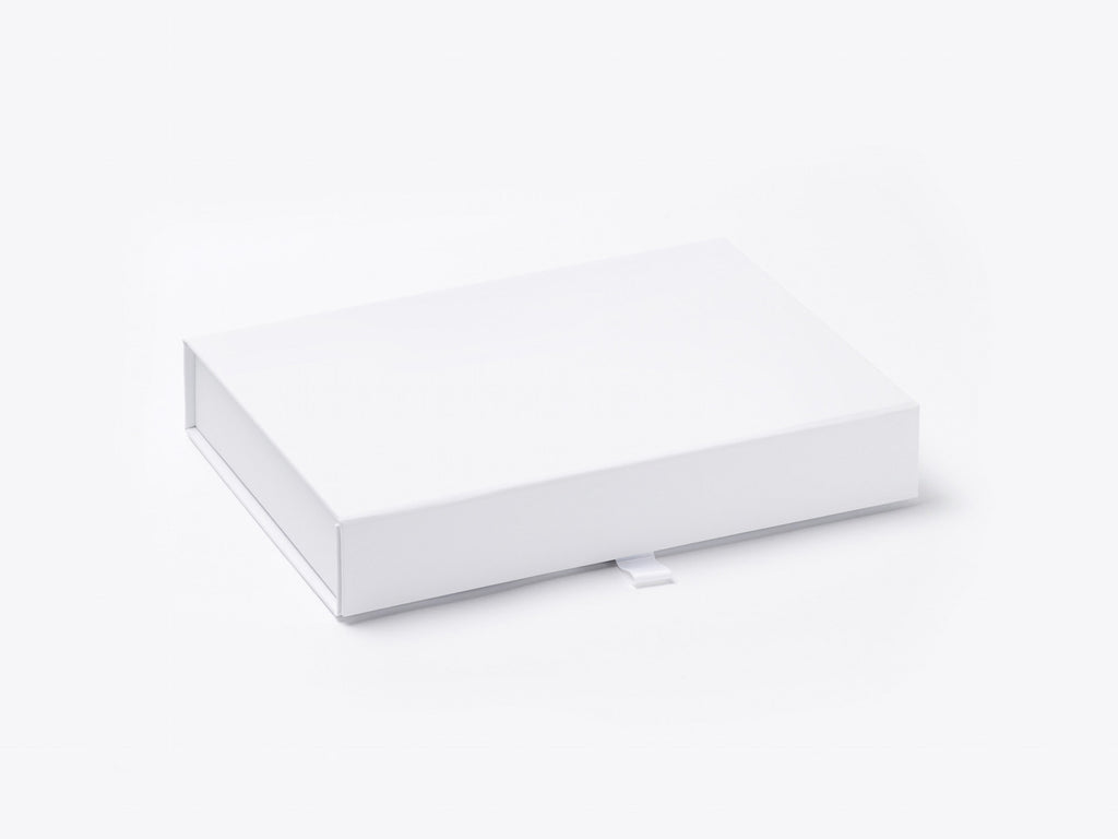 A6 Shallow White Luxury Gift Box With Magnetic Closure Pack Of 12
