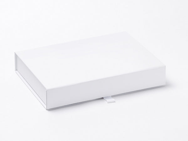 A5 Shallow White Luxury Gift box with magnetic closure (Pack of 12)