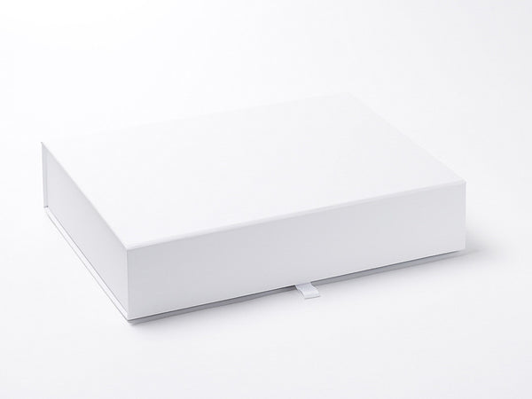 A4 Shallow White Luxury Gift box with magnetic closure (Pack of 12)