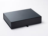 A4 Shallow Black Luxury Gift box with magnetic closure (Pack of 12)
