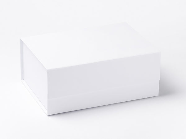 A5 Deep White Luxury Gift box with magnetic closure (Pack of 12)