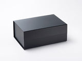 A5 Deep Black Luxury Gift box with magnetic closure (Pack of 12)