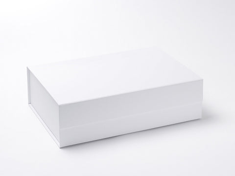 A4 Deep White Luxury Gift box with magnetic closure (Pack of 12)