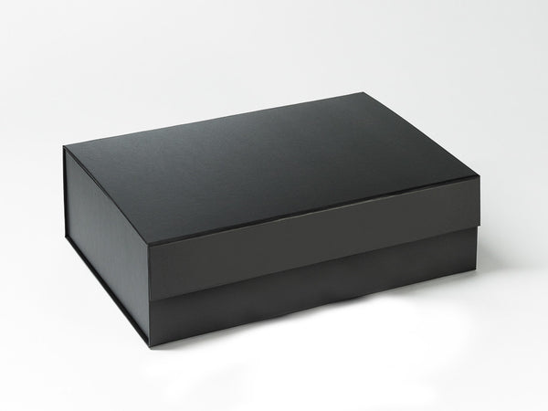 A4 Deep Black Luxury Gift box with magnetic closure (Pack of 12)