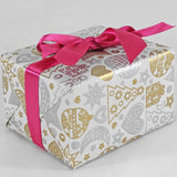 Gift Wrap Sheets - Sketch Gold and Silver Xmas (Pack of 25 sheets)