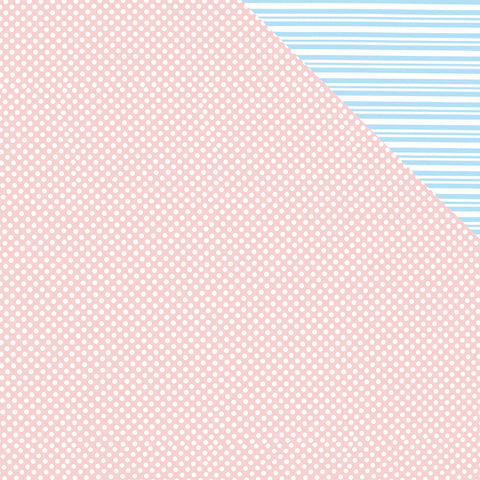 Spot Stripe PinkBlue Double-sided Counter Roll (250m x 50cm)
