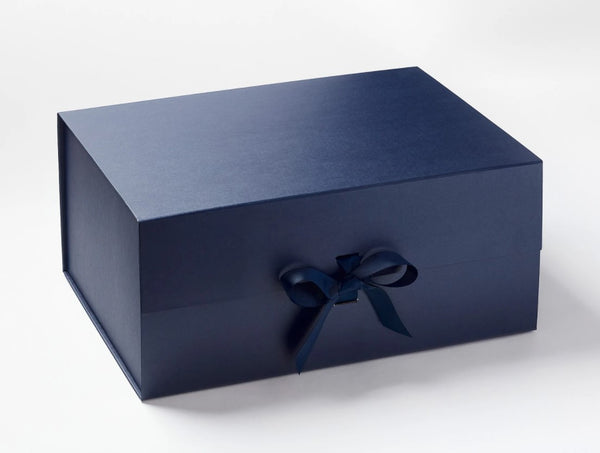 A3 Deep Navy Luxury Gift box with magnetic closure, and choice of ribbon (Pack of 12)