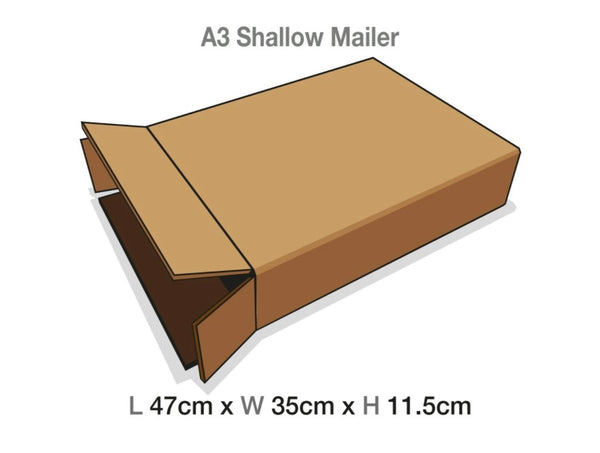 Brown Mailing Cartons to suit A3 Shallow Luxury Gift boxes