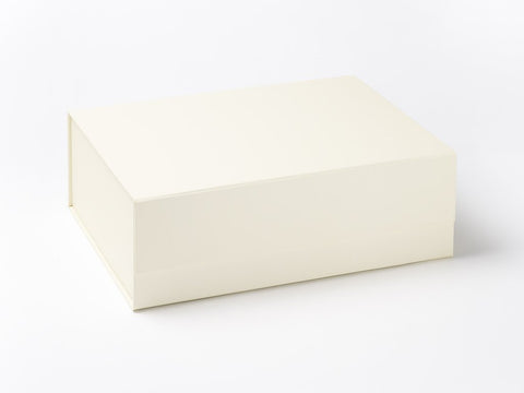 A4 Deep Ivory Luxury Gift box with magnetic closure (Pack of 12)