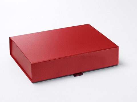 A4 Shallow Pearlescent Red Luxury Gift box with magnetic closure (Pack of 12)