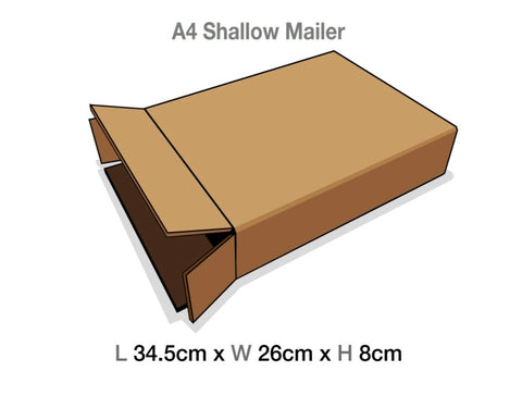 Brown Mailing Cartons to suit A4 Shallow Luxury Gift boxes