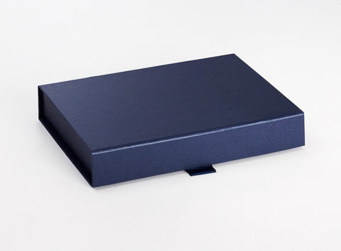 A5 Shallow Pearlescent Navy Luxury Gift box with magnetic closure (Pack of 12)
