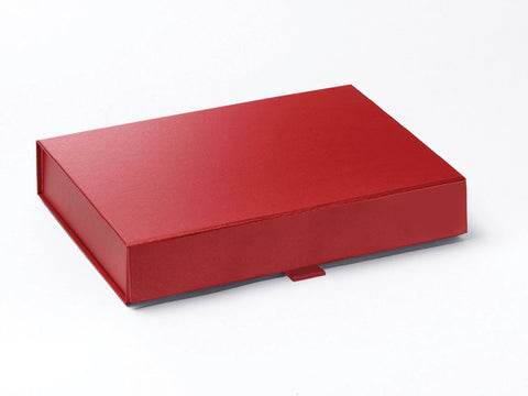 A5 Shallow Pearlescent Red Luxury Gift box with magnetic closure (Pack of 12)