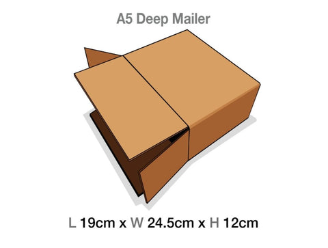 Brown Mailing Cartons to suit A5 Deep Luxury Gift boxes