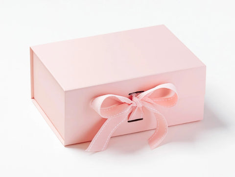 A5 Deep Pale Pink Luxury Gift box with magnetic closure, and choice of ribbon (Pack of 12)