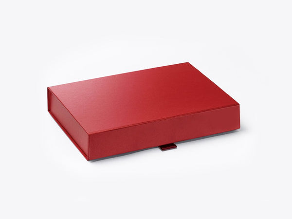 A6 Shallow Pearlescent Red Luxury Gift box with magnetic closure (Pack of 12)