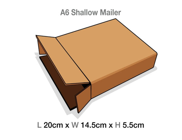 Brown Mailing Cartons to suit A6 Shallow Luxury Gift boxes
