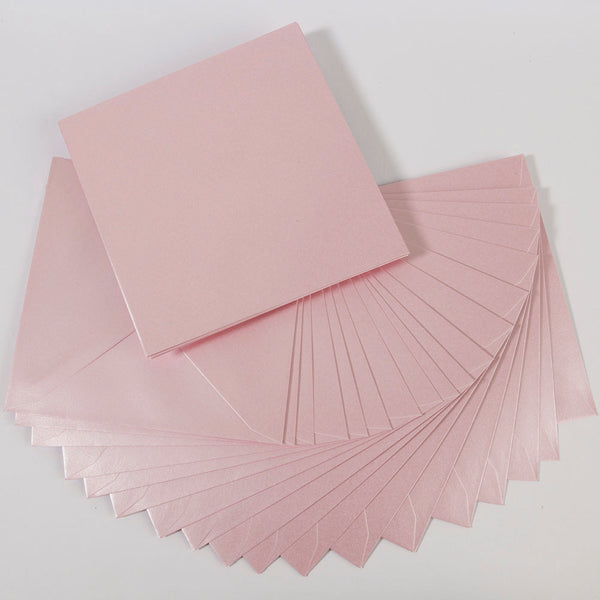 Pearlescent Envelopes Square Baby Pink, Pack 1000