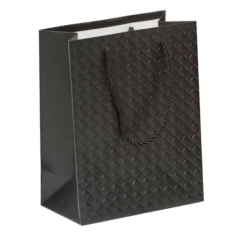 Lady Brigitte Medium Black Gift Bag, Pack 40