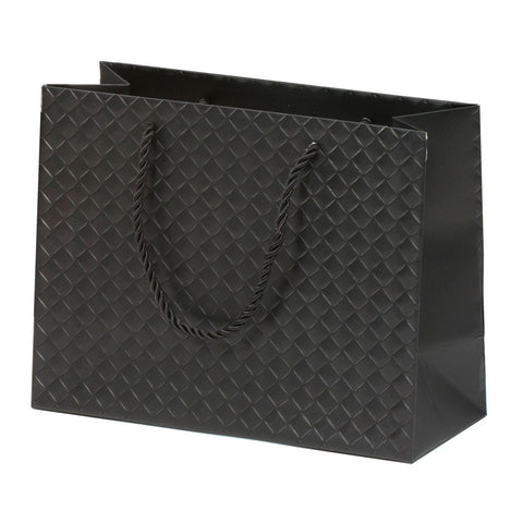 Lady Brigitte Medium Black Boutique Bag, Pack 40 (80p each)