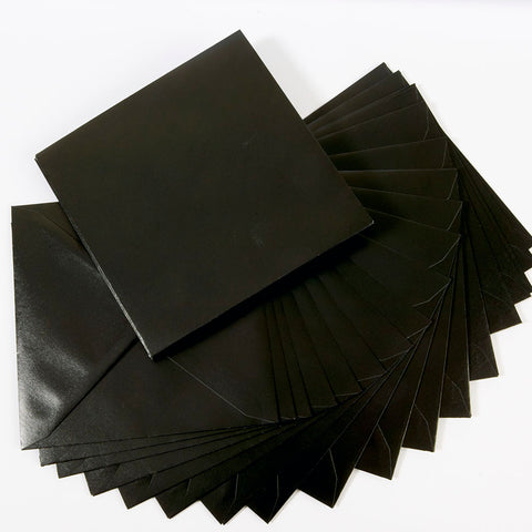 Pearlescent Envelopes Square Black, Pack 1000