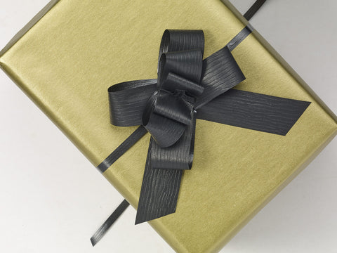 Paporlene Black Large Pull Bows (100)