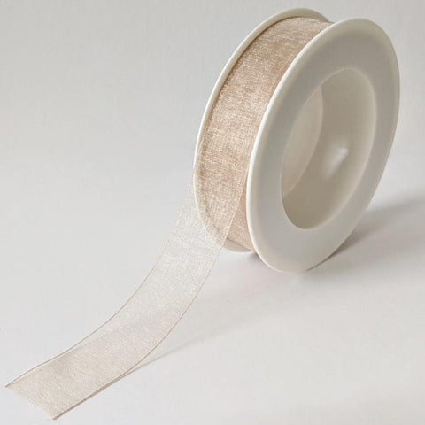 Plain Chiffon Bronze Ribbon (25mm x 25m)