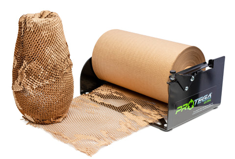 HexcelWrap Dispenser & Roll - the recycled paper packaging alternative to bubblewrap